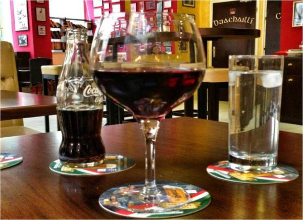...to red wine in an Irish pub