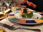 Starter of prawn and avocado