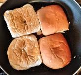 Fry those buns.